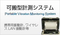 Portable Vibration Monitoring System  Portable Vibration Monitoring System and  Wireless LAN Vibro-sensor